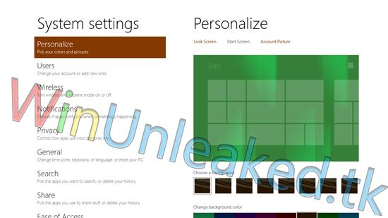 Win8新功能曝光:自定义开始屏幕背景图片