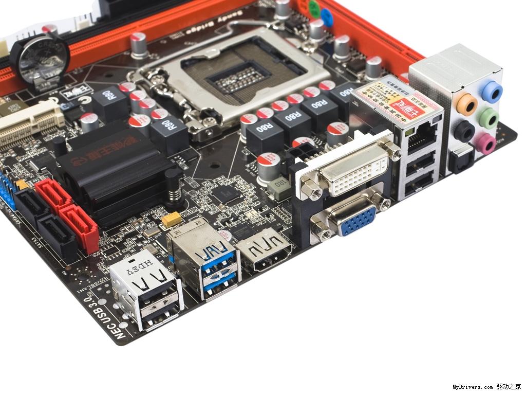 电脑主机器件结构图