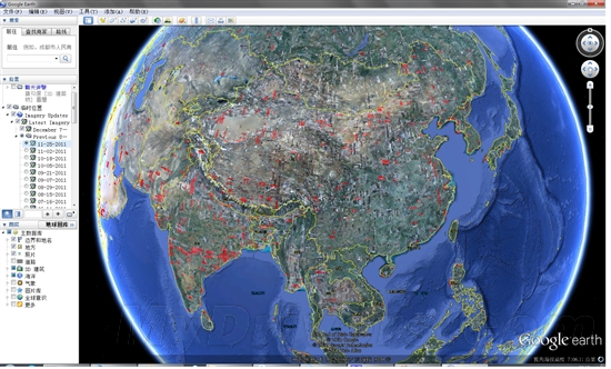 google地球航空,卫星照片全球大规模更新