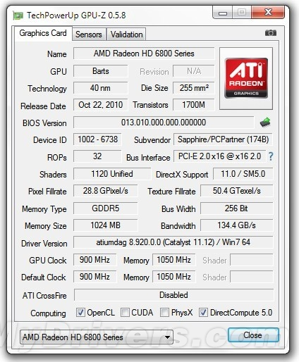 GPU-Z 0.5.8发布 可检测费米/南岛GPU质量