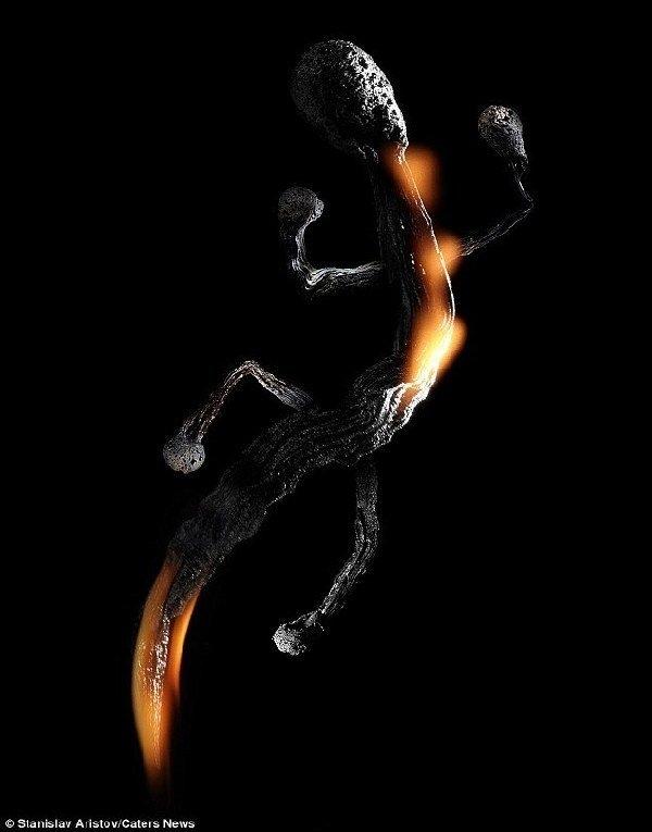 栩栩如生 火苗/火柴创造动物形象