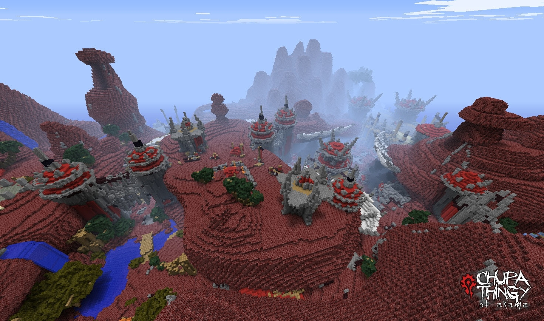 你没看过的艾泽拉斯 minecraft版8位wow图片
