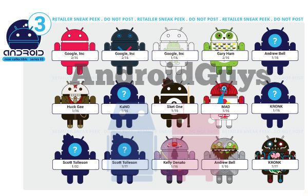 今天有人曝光了這些聚乙烯機器人玩偶的第三代設計圖,代號&ldquo圖片
