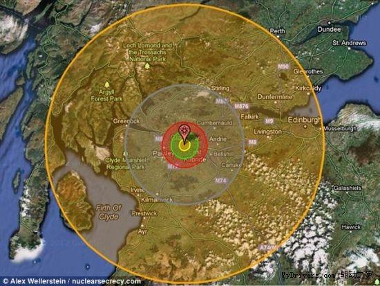 最大氢弹图片_核地图展示核武器恐怖破坏程度-核地图,核武器,破坏程度 ——快 ...