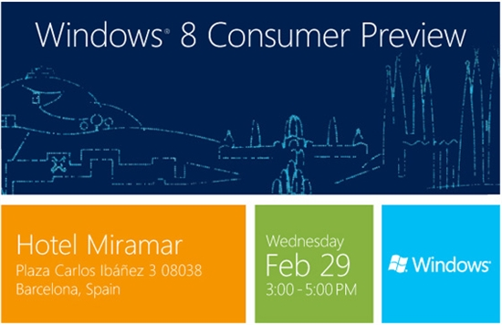 Windows 8消费者预览版正式完工!