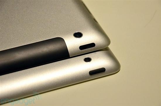 组图:iPad 3 VS. iPad 2真机对比