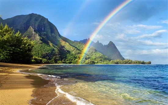 微软推两款梦幻Win7主题:明月/彩虹