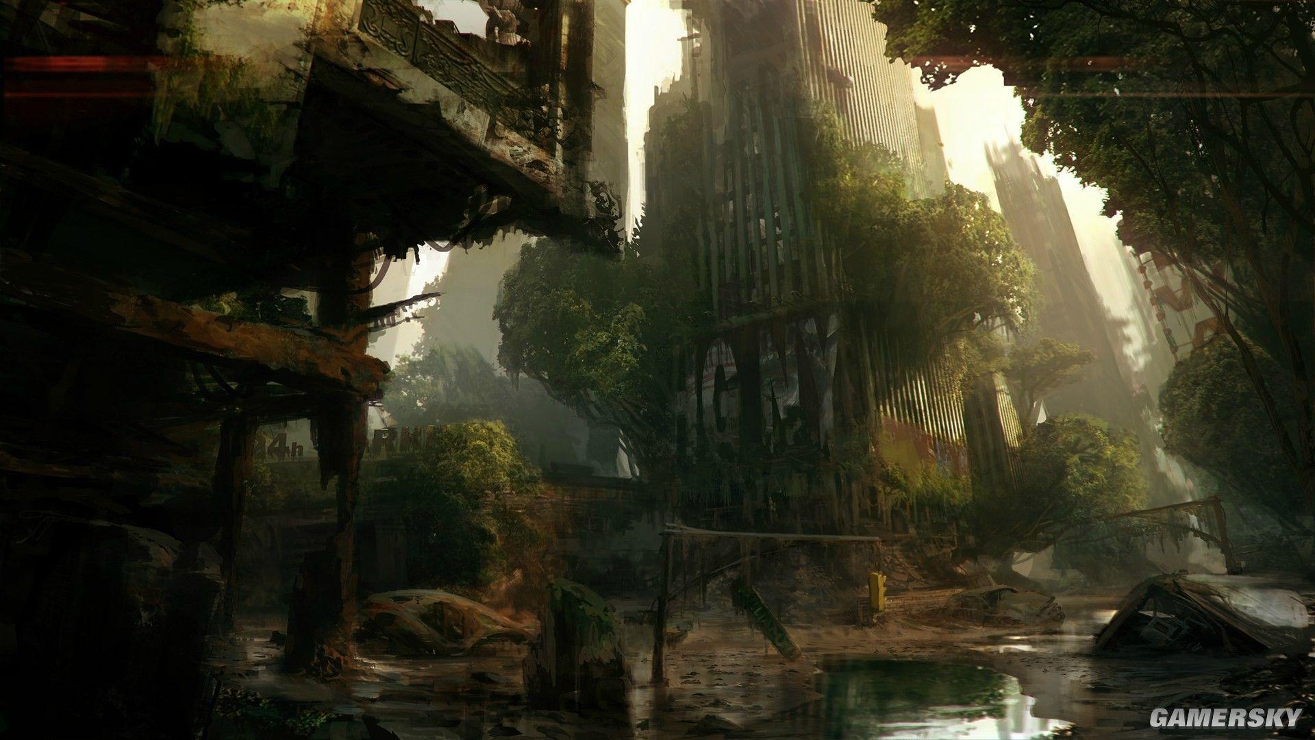 《孤岛危机3》将前往被外星人毁坏成森林废墟的