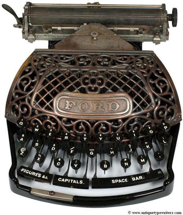 13款世界上最古老而美丽的打字机