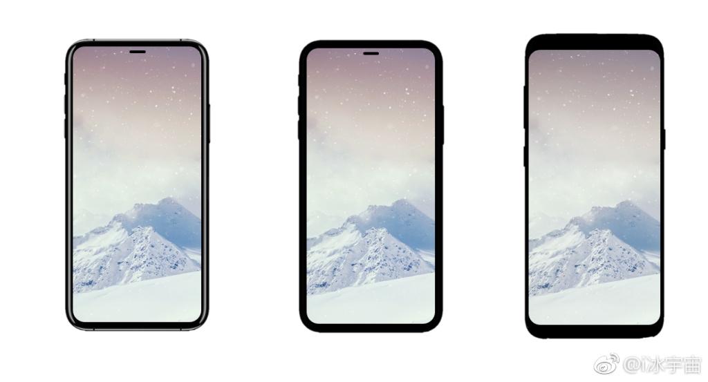 iphone 8实际屏占比并不见得比galaxy s8更大,只是把比边框比例更加