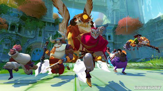 游戏画风十分可爱,英雄角色中许多都是可爱的动物形象.