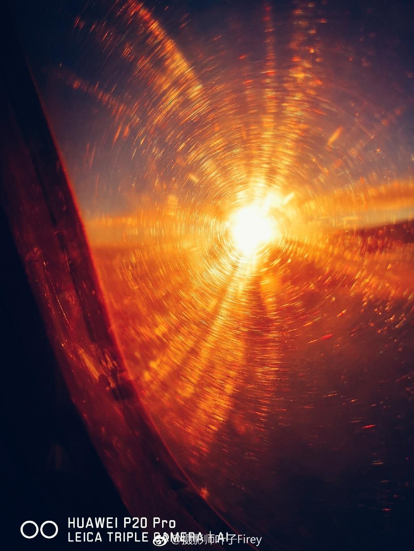 摄影师用华为p20 pro飞机上拍照:效果媲美单反图片