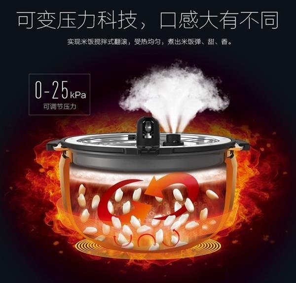 美的铰6999元电米饭煲 配备对标注日系旗舰