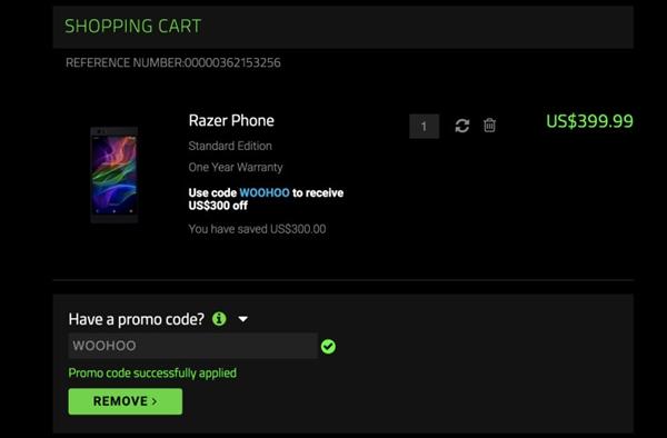 骁龙835+120Hz屏 Razer雷蛇顺手机官网投减价:2700元