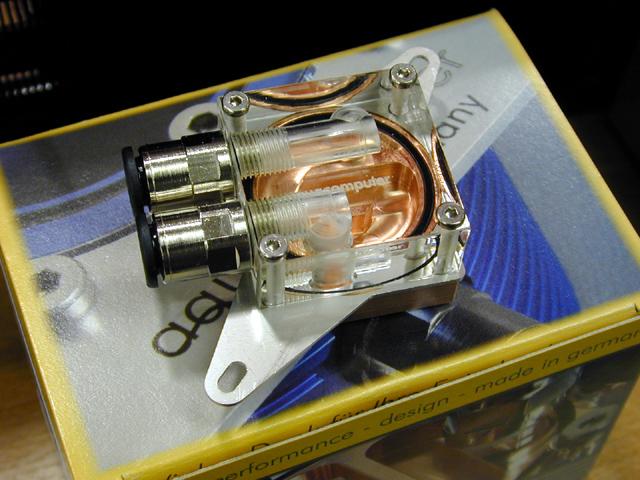 纯银制造的水冷散热器